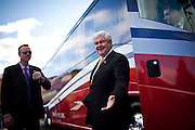 GOP presidential candidate Newt Gingrich arrives at a campaign event in Reno, Nevada, February 1, 2012.