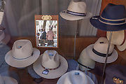 Hats of all sizes and varieties on display in the window of  Chapelaria Azevedo Rua, on 13th July 2016, in Lisbon, Portugal. Manuel Aquino Azevedo Rua founded the shop in 1886 when he left winemaking Port. It is now owned by the fifth generation of the same family. (Photo by Richard Baker / In Pictures via Getty Images)