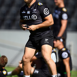 DURBAN, SOUTH AFRICA - MAY 04: Akker van der Merwe of the Cell C Sharks during the Cell C Sharks captains run at Jonnsons Kings Park on May 04, 2018 in Durban, South Africa. (Photo by Steve Haag/Gallo Images)