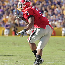 25 October 2008:  Georgia cornerback Asher Allen (2) in action during the Georgia Bulldogs 52-38 victory over the LSU Tigers at Tiger Stadium in Baton Rouge, LA.