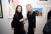 DANIELLE BLISS; LILLIANE CHANDLER, Exhibition of Gerald Laing Graphics. Opening of the Morton Metropolis Gallery. Hosted by Serena Morton and Raye Cosbert.  London. 10 February 2010