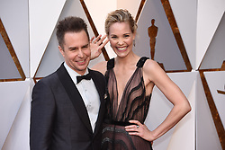 March 4, 2018 - Los Angeles, California, U.S. - SAM ROCKWELL AND LESLIE BIBB arrive on the red carpet for the 90th Annual Academy Awards at the Dolby Theatre. (Credit Image: © Kevin Sullivan via ZUMA Wire)