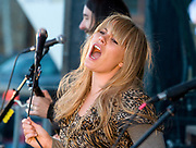 NEWS&amp;GUIDE PHOTO / PRICE CHAMBERS<br /> Grace Potter and the Nocturnals jam at the Jackson Hole Mountain Festival on Saturday, March 27, 2010.