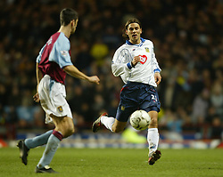 BIRMINGHAM, ENGLAND - Tuesday, January 6, 2004: Portsmouth's Patrik Berger in action against Aston Villa during the Premiership match at Villa Park. (Pic by David Rawcliffe/Propaganda)