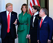 President Donald Trump and the First Lady Melania Trump  welcomes King Abdullah II and Queen Rania of Jordan.<br />