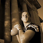 4TH CHOICE INSIDE----John Beck BYU quarterback portrait shoot on the BYU campus Maeser Building in Provo, Utah Wednesday August 2, 2006.  August Miller/Deseret Morning News