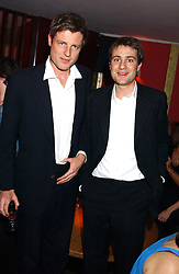 Left to right, brothers ZAC GOLDSMITH and BEN GOLDSMITH at the opening party for a new bowling alley All Star Lanes, at Victoria House, Bloomsbury Place, London on 19th January 2006.<br />