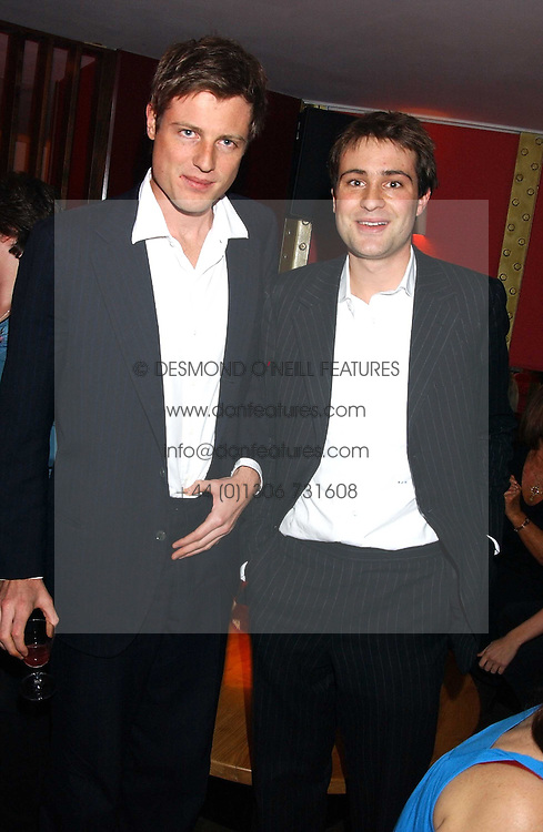 Left to right, brothers ZAC GOLDSMITH and BEN GOLDSMITH at the opening party for a new bowling alley All Star Lanes, at Victoria House, Bloomsbury Place, London on 19th January 2006.<br /><br />NON EXCLUSIVE - WORLD RIGHTS