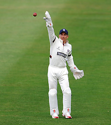 Somerset's Michael Bates who is making his first team debut. - Photo mandatory by-line: Harry Trump/JMP - Mobile: 07966 386802 - 14/06/15 - SPORT - CRICKET - LVCC County Championship - Division One - Day One - Somerset v Nottinghamshire - The County Ground, Taunton, England.