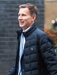 London - Secretary of State for Health and Social Care Jeremy Hunt attends the weekly meting of the UK cabinet at Downing Street. January 23 2018.