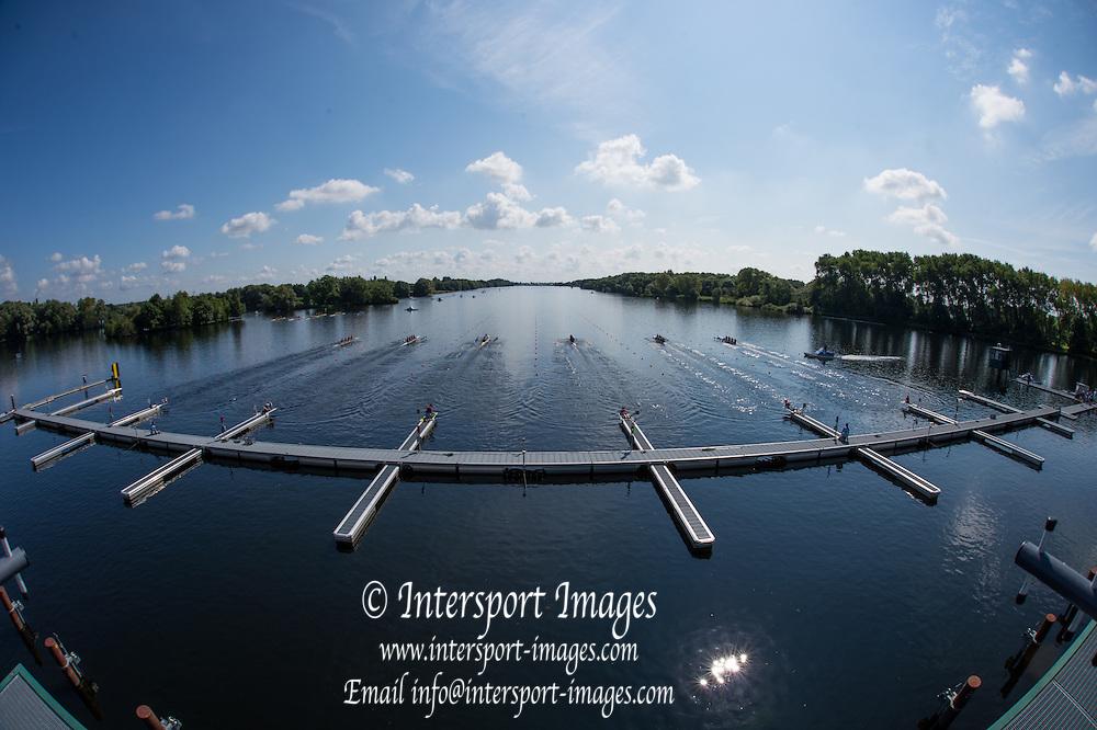 Hamburg. GERMANY.   Friday, Morning Quarter Finals at the 2014 FISA Junior World rowing. Championships.  11:22:03  Friday  08/08/2014  [Mandatory Credit; Peter Spurrier/Intersport-images]