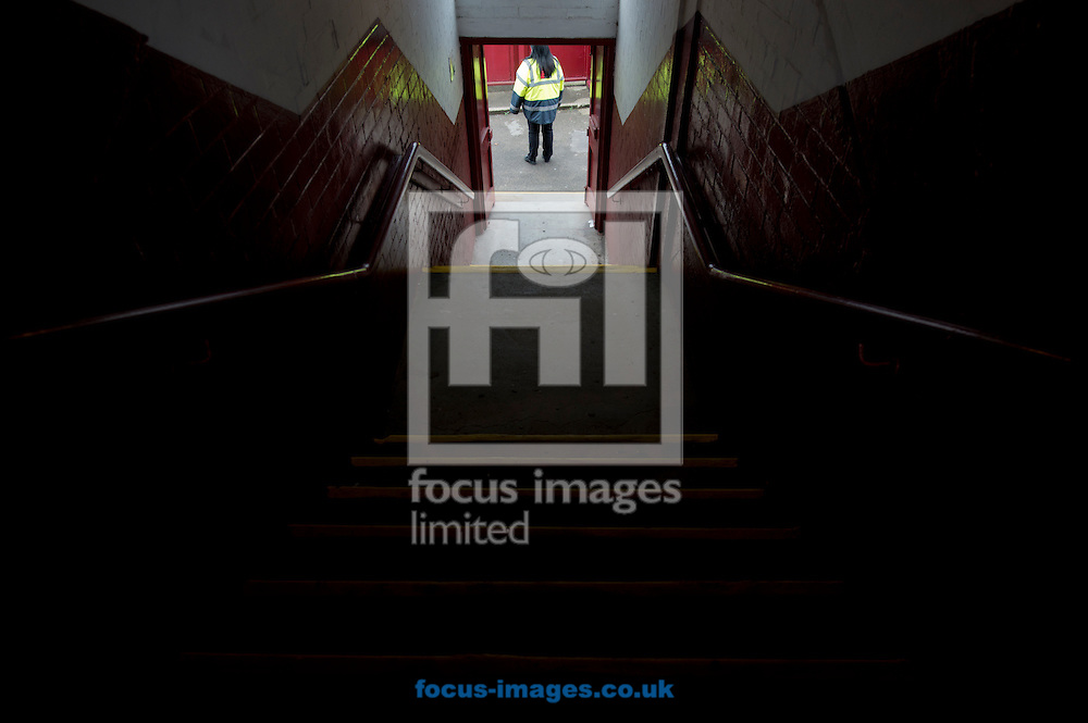 A general view of a stairwell before the Sky Bet League 1 match at Oakwell, Barnsley<br /> Picture by Russell Hart/Focus Images Ltd 07791 688 420<br /> 12/10/2014