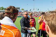 Eindhoven - Oranje Rood - Kampong  Heren, Hoofdklasse Hockey Heren, Seizoen 2017-2018, 05-05-2018, Halve Finale Playoffs, Oranje Rood - Kampong 1-1, Kampong wns, Roger van Gent<br /> <br /> (c) Willem Vernes Fotografie