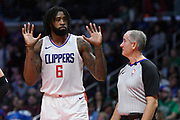 LA Clippers center DeAndre Jordan #6 does not protest being called for a foul in the 2nd half. The Los Angeles Clippers were defeated by the Boston Celtics 113-102 in a regular season NBA matchup in Los Angeles, CA 1/025/2018 (Photo by John McCoy, Los Angeles Daily News/SCNG)