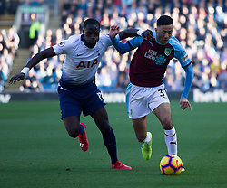 Moussa Sissoko of Tottenham Hotspur (L) and Dwight McNeil of Burnley in action - Mandatory by-line: Jack Phillips/JMP - 23/02/2019 - FOOTBALL - Turf Moor - Burnley, England - Burnley v Tottenham Hotspur - English Premier League