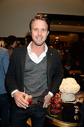Cricketer NICK COMPTON grandson of the legendary Denis Compton at the Kent and Curwen London Flagship Launch, Saville Row, London on 6th November 2013.