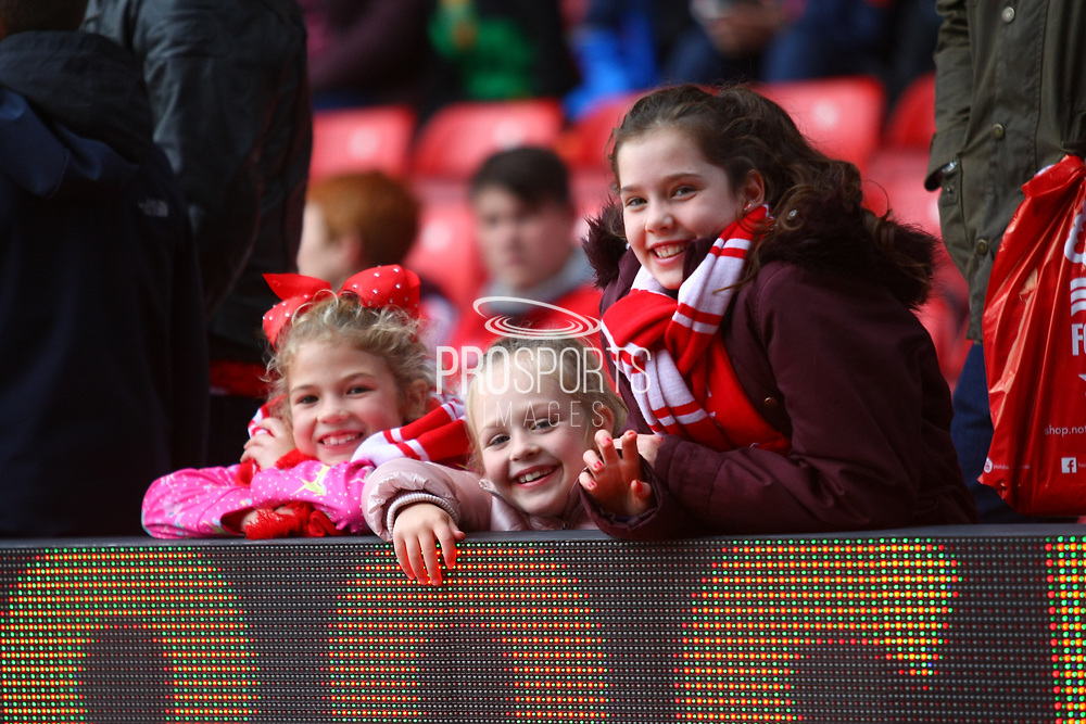 Young forest fans during the EFL Sky Bet Championship match between Nottingham Forest and Burton Albion at the City Ground, Nottingham, England on 21 October 2017. Photo by John Potts.