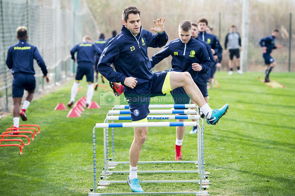 January 6, 2018 - Oliva, SPAIN - Gent's Franko Andrijasevic pictured in action during the second day of the winter training camp of Belgian first division soccer team KAA Gent, in Oliva, Spain, Saturday 06 January 2018. BELGA PHOTO JASPER JACOBS (Credit Image: © Jasper Jacobs/Belga via ZUMA Press)