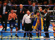 Vasiliy Lomachenko and Luke Campbell, WBC, WBA, WBO and Ring Magazine Lightweight World title fight, O2 Arena.<br /> 31st August 2019<br /> Picture By Dave Thompson