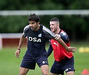 Dundee new boy Sofien Moussa and Randy Wolters during Dundee FC training at Michelin Grounds, Dundee, Photo: David Young<br /> <br />  - © David Young - www.davidyoungphoto.co.uk - email: davidyoungphoto@gmail.com