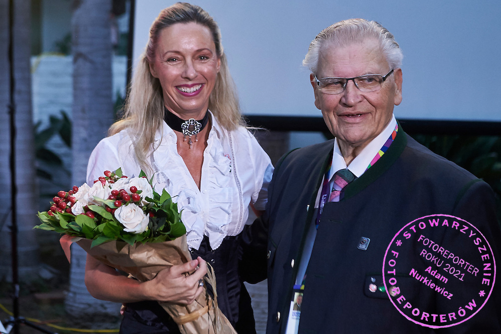 (L) Ulrike Ritzinger and (R) Hermann Kroell while Austria 2017 Reception during third day of the Special Olympics World Games Los Angeles 2015 on July 27, 2015 in Los Angeles, USA.<br /> USA, Los Angeles, July 27, 2015<br /> <br /> Picture also available in RAW (NEF) or TIFF format on special request.<br /> <br /> For editorial use only. Any commercial or promotional use requires permission.<br /> <br /> Adam Nurkiewicz declares that he has no rights to the image of people at the photographs of his authorship.<br /> <br /> Mandatory credit:<br /> Photo by &copy; Adam Nurkiewicz / Mediasport