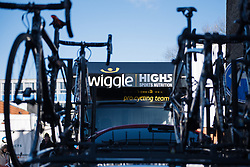 A new team bus to go with the new name - Wiggle Hi5 - Le Samyn des Dames 2016, a 113km road race from Quaregnon to Dour, on March 2, 2016 in Hainaut, Belgium.