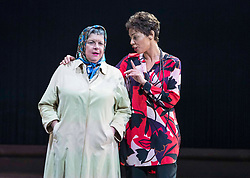 Chronicling Jackie Kay's 20-year search for her biological mother and father and her quest for them to recognise her own existence. <br /> <br /> National Theatre of Scotland's Red Dust Road is adapted from the soul-searching memoir by Jackie Kay, poet, playwright, novelist and Scottish Makar. It's a journey full of heart, humour and profound emotion, exploring race, identity and family secrets, with a deeply human curiosity and compassion.<br /> <br /> Red Dust Road is adapted for the stage by Tanika Gupta, winner of last year's James Tait Black Prize for her drama Lions and Tigers. Completing the creative trio is Dawn Walton, director of the acclaimed salt. by Selina Thompson.<br /> <br /> Red Dust Road is at the Edinburgh International Festival from 14 - 18 August<br /> <br /> Pictured L to R:Elaine C Smith, Sasha Frost