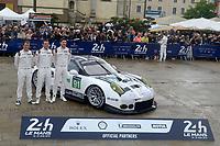 Patrick PILET (FRA) / Kevin ESTRE (FRA) / Nick TANDY (GBR)  #91 PORSCHE MOTORSPORT PORSCHE 911 RSR (2016),  during the Le Mans 24 Hr June 2016 at Circuit de la Sarthe, Le Mans, Pays de la Loire, France. June 12 2016. World Copyright Peter Taylor/PSP.