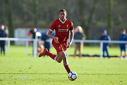 BLACKBURN, ENGLAND - Saturday, January 6, 2018: Liverpool's Elijah Dixon-Bonner during an Under-18 FA Premier League match between Blackburn Rovers FC and Liverpool FC at Brockhall Village Training Ground. (Pic by David Rawcliffe/Propaganda)