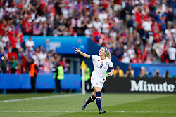 2019?6?17?.   ???????????——F??????????.    6?16????????????????????????.   ?????????????????2019??????????F??????????3?0??????.   ?????????..SP-FRANCE-PARIS-FIFA WOMEN'S WORLD CUP-GROUP F-USA-CHILE.(1906017) -- PARIS, June 17, 2019  Julie Ertz of the United States celebrates her goal during the Group F match between the United States and Chile at the 2019 FIFA Women's World Cup in Parc des Princes in Paris, France, June 16, 2019.  The United States won 3-0. (Credit Image: © Xinhua via ZUMA Wire)