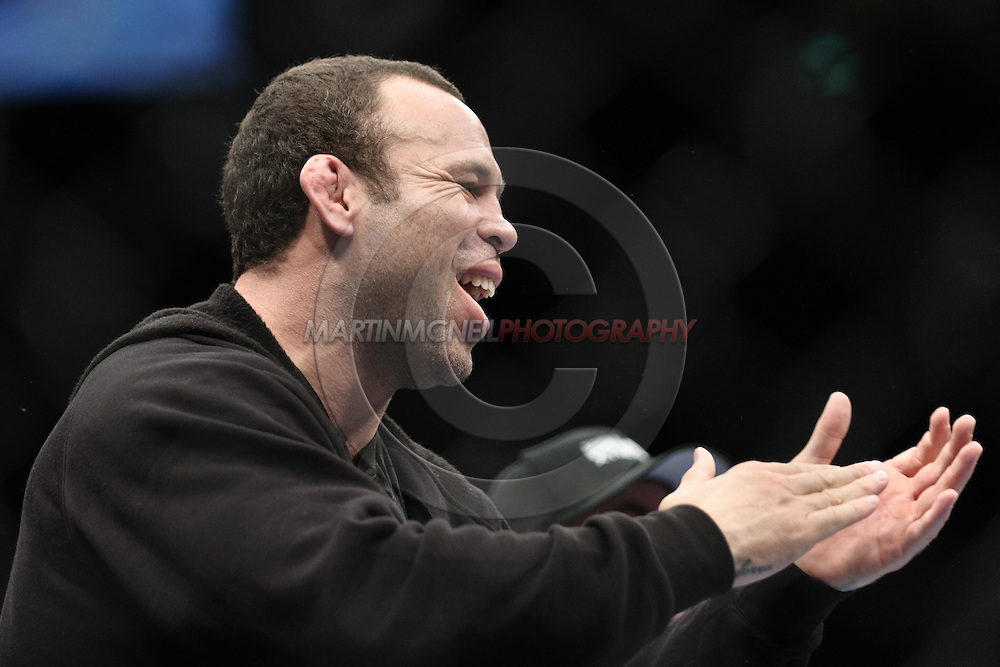 "LONDON, ENGLAND, FEBRUARY 21, 2009: Wanderlei Silva applauds Demian Maia (not pictured) after Maia won his fight at ""UFC 95: Sanchez vs. Stevenson"" inside the O2 Arena in Greenwich, London."