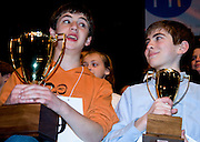 THE CHAMP-Out of 62 contestants, and nearly four hours of competition, the 2011 Howard County Spelling Bee winner and runner-up are Sam Osheroff (left) and Andrew Johnson.