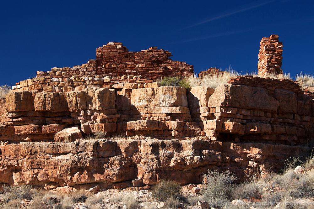 North America, USA, Arizona, Wupatki. Lomaki Pueblo, at Wupatki National Monument.