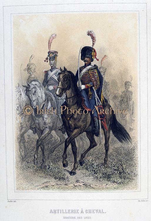 Horse Artillery:  Staff Sergeant.  From 'Napoleon 1er et la Garde Imperiale' by Eugene Fieffe, Paris, 1858.