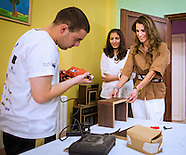 Queen Rania Visits Vocational Training Center, Amman