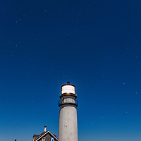 Highland Lighthouse with Big and Little Dippers, Cape Cod National Seashore