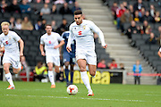 Milton Keynes Dons midfielder Daniel Powell (17) looks to release the ball during the EFL Sky Bet League 1 match between Milton Keynes Dons and Southend United at stadium:mk, Milton Keynes, England on 22 October 2016. Photo by Dennis Goodwin.
