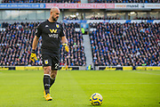 Pepe Reina (GK) (Aston Villa) walks to retrieve the ball during the Premier League match between Brighton and Hove Albion and Aston Villa at the American Express Community Stadium, Brighton and Hove, England on 18 January 2020.