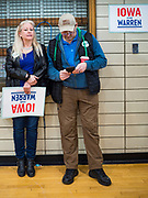 19 JANUARY 2020 - DES MOINES, IOWA: People wait for an Elizabeth Warren campaign event to start. With just two weeks to go before the Iowa Caucuses, Sen. Warren is campaigning in the Des Moines area this weekend to support her effort to be the Democratic nominee for the US presidential race in 2020. Iowa traditionally hosts the first presidential selection event of the campaign season. The Iowa caucuses are Feb. 3, 2020.          PHOTO BY JACK KURTZ