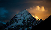 It was an expensive hotel booking at The Hermitage Hotel, Aoraki (Mt. Cook) -staying on level 9 (of 10) with the hope of a stunning sunrise. The night before the camera was set ready to go, and as the alarm went off I headed out to the balcony to see what might happen... And this was the result - what an amazing sunrise, but boy it was over quick!