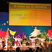 Sunday worship in Day By Day Church in Manila's CCP section (Cultural Center of the Philippines).