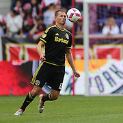 HARRISON, NEW JERSEY- OCTOBER 16:  Adam Jahn #12 of Columbus Crew in action during the New York Red Bulls Vs Columbus Crew SC MLS regular season match at Red Bull Arena, on October 16, 2016 in Harrison, New Jersey. (Photo by Tim Clayton/Corbis via Getty Images)