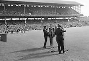 "The ""Charioteers"" Brendan O'Duill, Sean Potts provide entertainment at the All Ireland Minor Gaelic Football Final Sligo v. Cork in Croke Park on the 22nd September 1968. Cork 3-5, Sligo 1-10."
