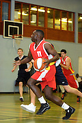 UK - Tuesday, Nov 18 2008:  Keith Pringle leads an offensive charge during Barking and Dagenham Erkenwald Basketball Club's Essex Basketball League game against Brightlingsea Sledgehammers. Erks won 91 - 86. (Photo by Peter Horrell / http://www.peterhorrell.com)
