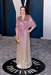 February 9, 2020, Beverly Hills, CA, USA: BEVERLY HILLS, CALIFORNIA - FEBRUARY 9: Megan Mullally attends the 2020 Vanity Fair Oscar Party at Wallis Annenberg Center for the Performing Arts on February 9, 2020 in Beverly Hills, California. Photo: CraSH/imageSPACE (Credit Image: © Imagespace via ZUMA Wire)