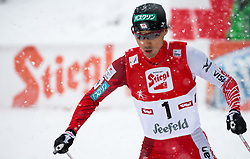 31.01.2016, Casino Arena, Seefeld, AUT, FIS Weltcup Nordische Kombination, Seefeld Triple, Langlauf, im Bild Akito Watabe (JPN, 2.Platz) // 2nd placed Akito Watabe of Japan competes during 15km Cross Country Gundersen Race of the FIS Nordic Combined World Cup Seefeld Triple at the Casino Arena in Seefeld, Austria on 2016/01/31. EXPA Pictures © 2016, PhotoCredit: EXPA/ Jakob Gruber