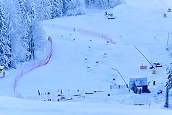 Women's Giant Slalom, View from the top. at the WPAS_2019 Alpine Skiing World Championships, Kranjska Gora, Slovenia