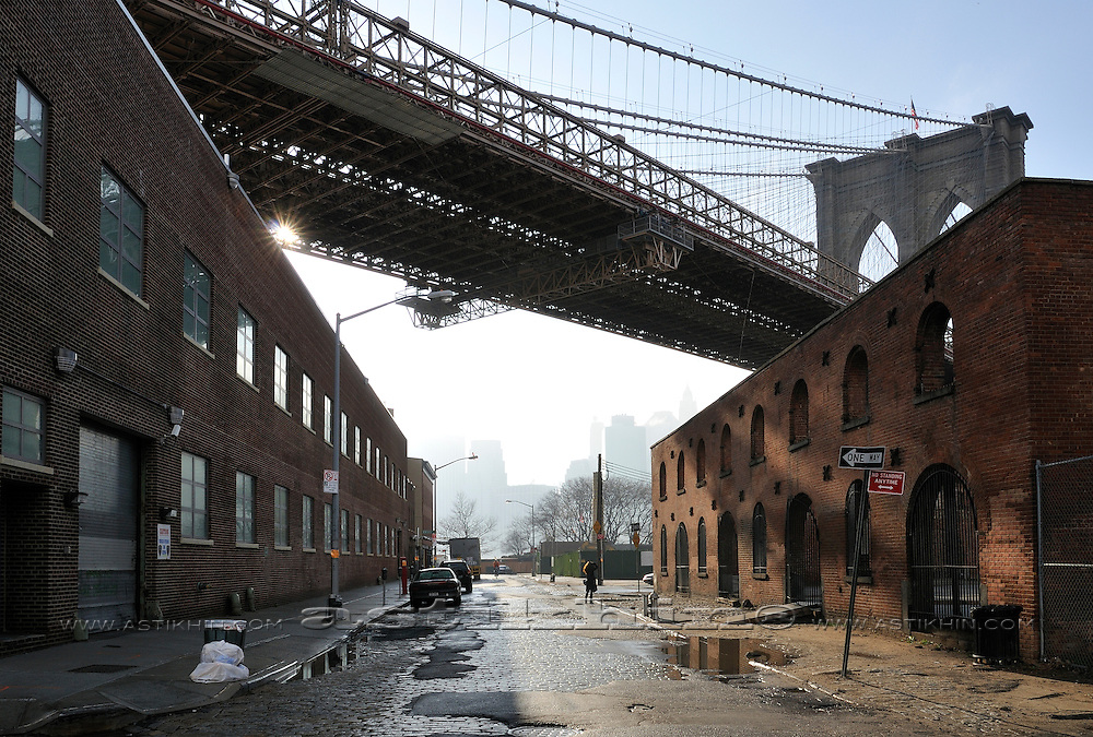 Perspective in Brooklyn's Empire-Fulton Ferry State Park