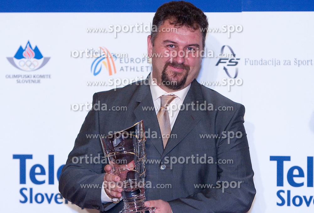 Best coach of the year Vladimir Kevo at Best Slovenian athlete of the year ceremony, on November 15, 2008 in Hotel Lev, Ljubljana, Slovenia. (Photo by Vid Ponikvar / Sportida)
