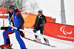 Behind the scenes, Les Coulisses with BOCHET Marie LW6/8-2 FRA in the ParaSkiAlpin, Para Alpine Skiing, Slalom at the PyeongChang2018 Winter Paralympic Games, South Korea.
